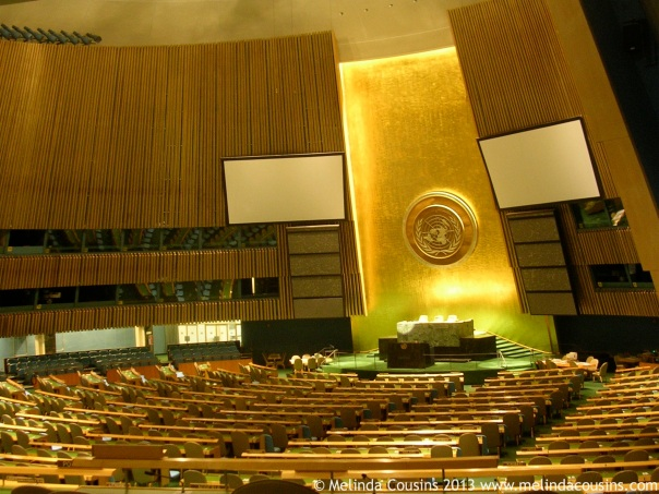 The UN General Assembly Chamber