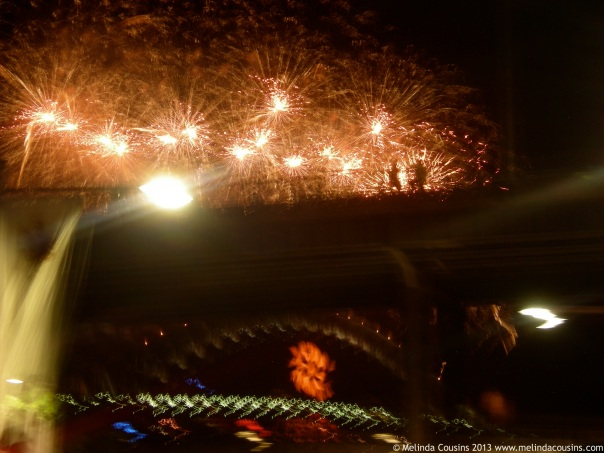 NYE Fireworks on the Bridge with the Cahill Expressway in the way
