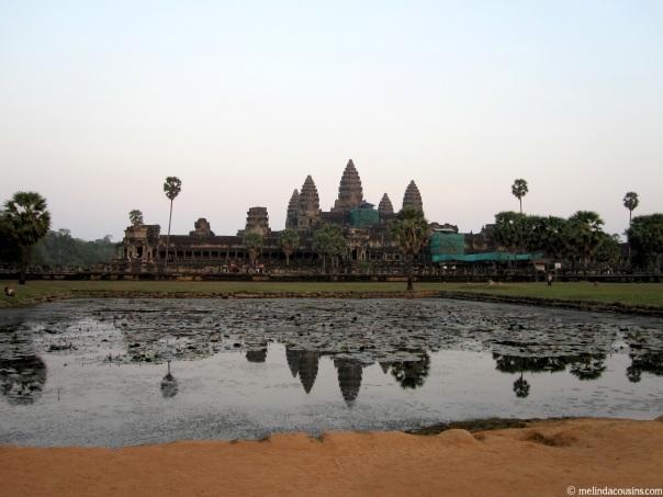 The central temples at Angkor Wat