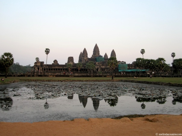 The central temples at Angkor Wat