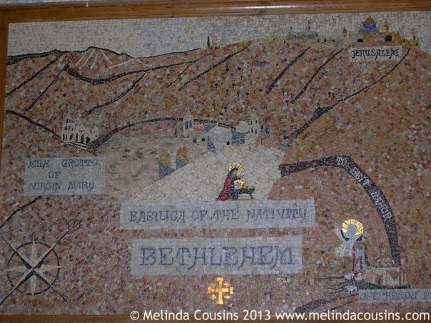 Mosaic Map of Bethlehem in St Catherine's Church