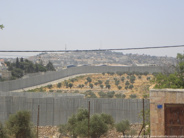 A small part of the separation wall