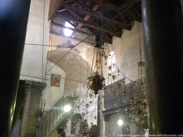 Inside the Church of the Nativity
