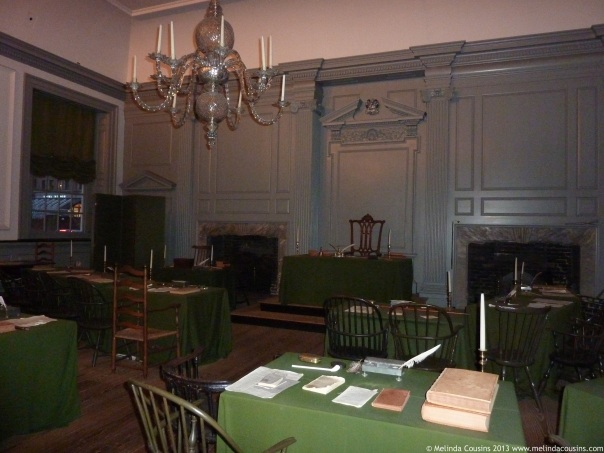 The room where the Declaration of Independence was signed