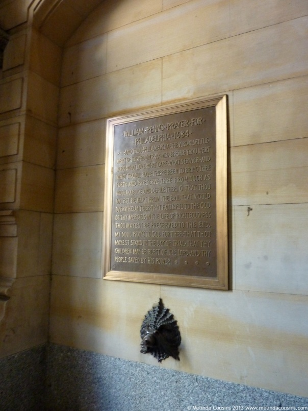 Penn's prayer for Philadelphia (on the wall of City Hall)