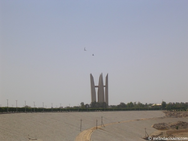 The Soviet-Arab Friendship Monument atop the Aswan High Dam