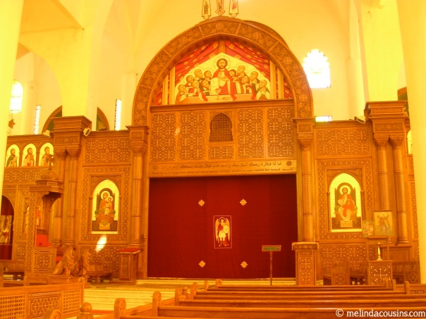 Inside the Coptic Cathedral
