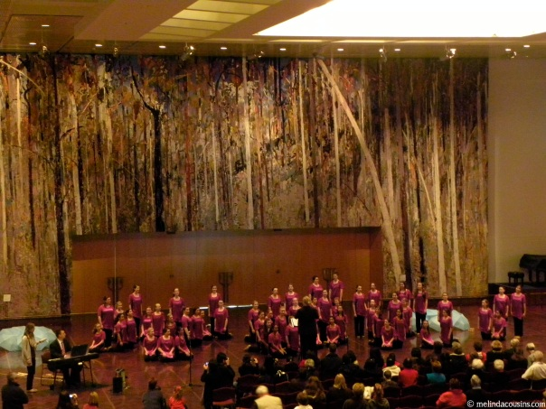 The Australian Girls Choir performing in the Great Hall