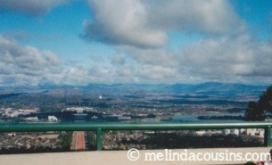 View of Canberra from Mt Ainslie