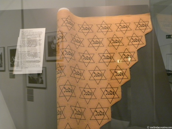 Leftover fabric stars in the Jewish museum