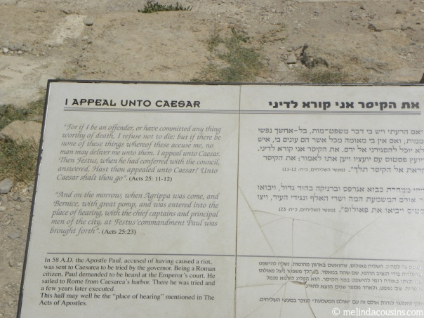 Caesarea sign about Paul