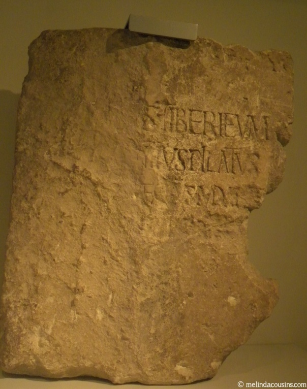 The inscription mentioning Pilate, in the Israel museum
