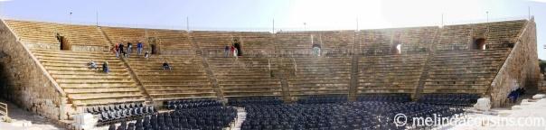Caesarea theatre panorama