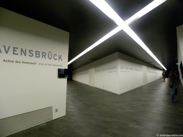 The intersection of the underground tunnels in the Jewish Museum