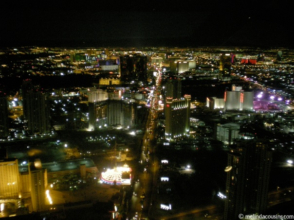 Looking down on the Strip