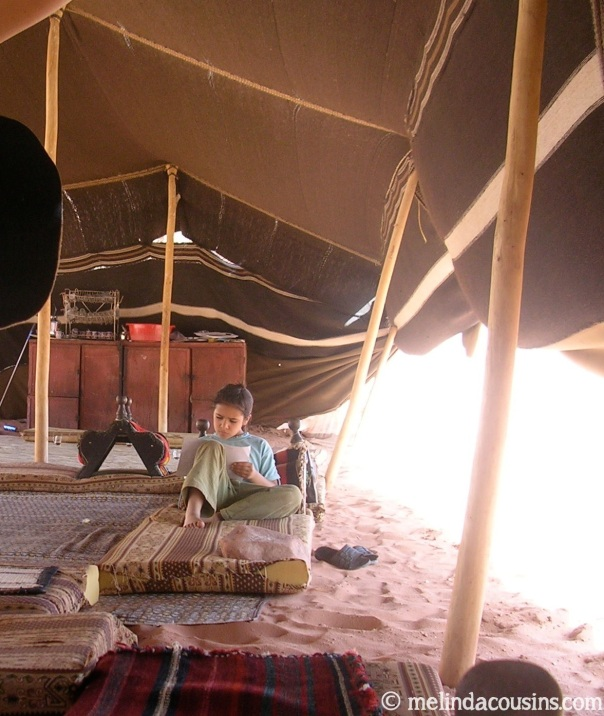 bedouin girl in tent