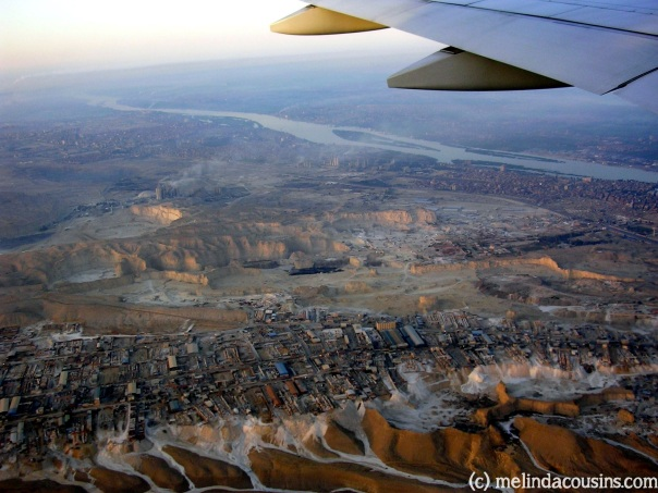 Flying into Cairo