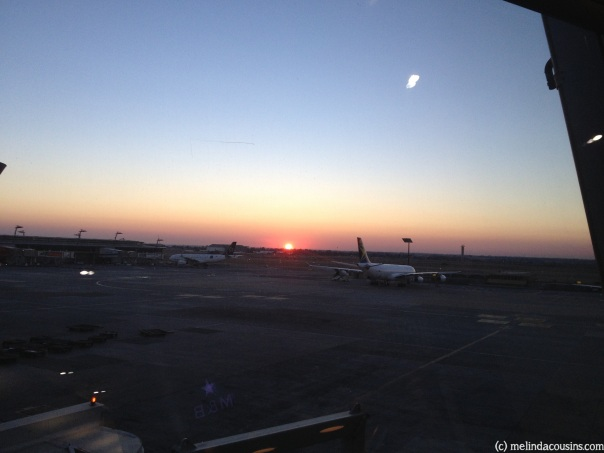 Sunrise at Johannesburg airport