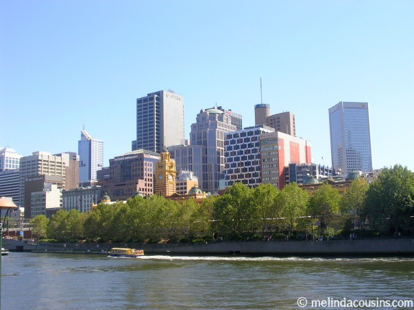 Part of the Melbourne skyline