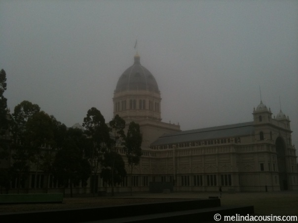 Early morning fog at the Royal Exhibition Building