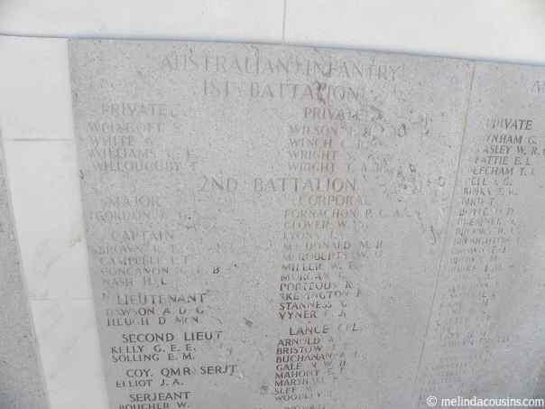Close up memorial