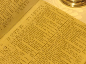 Johnson's Bible open to his sermon text for Feb 3, 1788