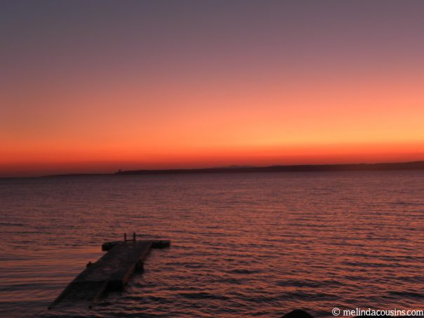 Sunset over the Dardanelles