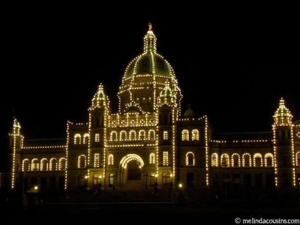 BC Parliament Building night