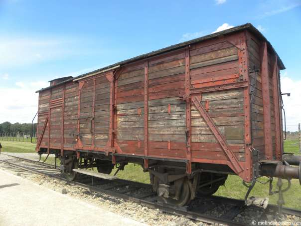Freight car used to deport Jews from Hungary, 80-150 at a time