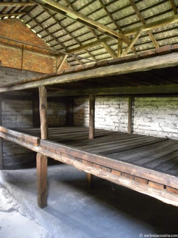 Women's barrack bunks Birkenau