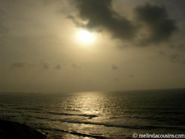 Med view sunset