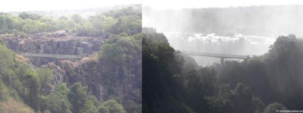 Zambian side of Victoria Falls July 2013 / December 2014