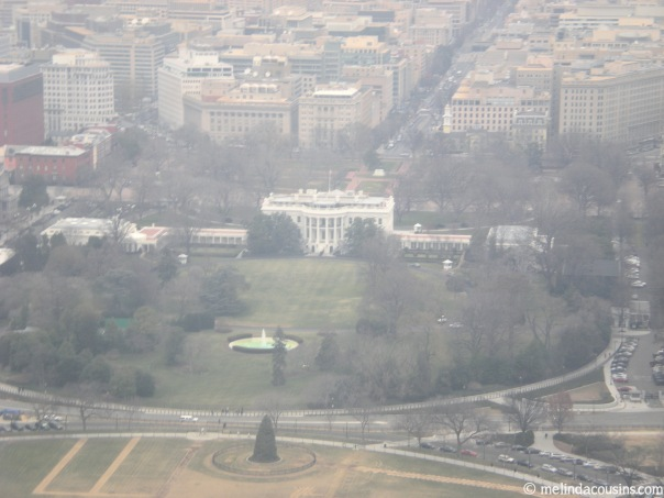 View of the White House from the Washington Monument